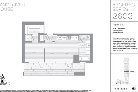 R2148746 - 2603 1480 HOWE STREET, Yaletown, Vancouver, BC - Apartment Unit