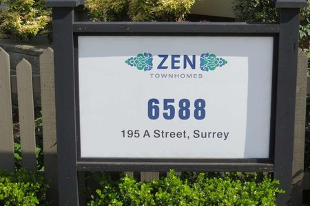 R2165778 - 14 6588 195A STREET, Clayton, Surrey, BC - Townhouse