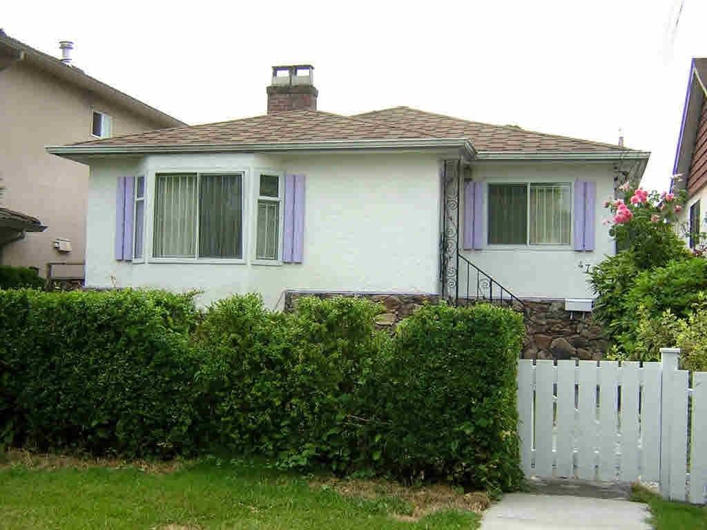 R2167323 - 4754 GLADSTONE STREET, Victoria VE, Vancouver, BC - House/Single Family
