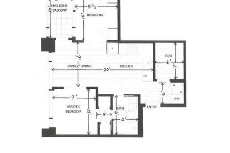 R2177943 - 804 1283 HOWE STREET, Downtown VW, Vancouver, BC - Apartment Unit