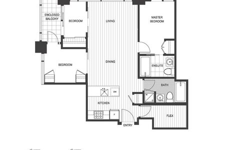 R2192885 - 3104 1283 HOWE STREET, Downtown VW, Vancouver, BC - Apartment Unit