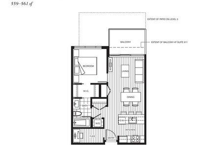 R2207393 - 711 6188 NO 3 ROAD, Brighouse, Richmond, BC - Apartment Unit