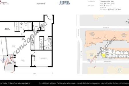 R2226015 - 708 7733 FIRBRIDGE WAY, Brighouse, Richmond, BC - Apartment Unit