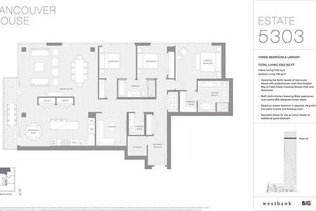 R2226029 - 5303 1480 HOWE STREET, Yaletown, Vancouver, BC - Apartment Unit