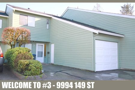 R2232493 - 3 9994 149 STREET, Guildford, Surrey, BC - Townhouse