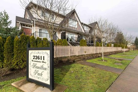R2233655 - 8 22611 WESTMINSTER HIGHWAY, Hamilton RI, Richmond, BC - Townhouse