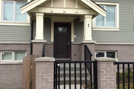 R2256613 - 1 9833 CAMBIE ROAD, West Cambie, Richmond, BC - Townhouse