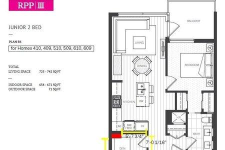R2269518 - 610 5400 HOLLYBRIDGE WAY, Brighouse, Richmond, BC - Apartment Unit
