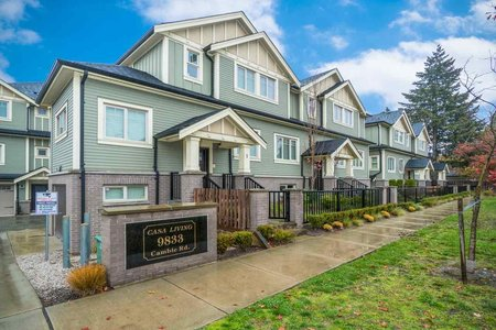 R2318460 - 1 9833 CAMBIE ROAD, West Cambie, Richmond, BC - Townhouse