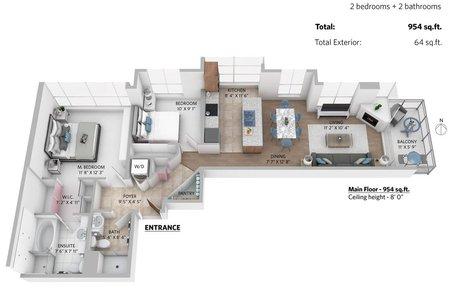 R2318736 - 1401 188 E ESPLANADE AVENUE, Lower Lonsdale, North Vancouver, BC - Apartment Unit