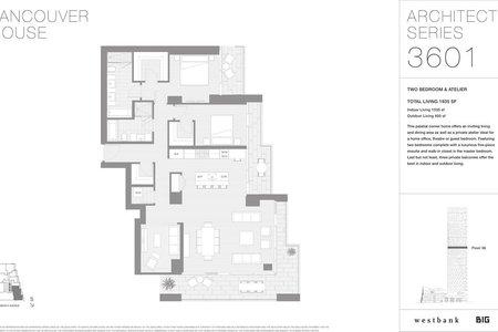 R2325731 - 3601 1480 HOWE STREET, Yaletown, Vancouver, BC - Apartment Unit
