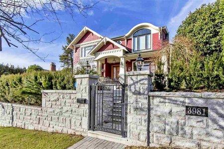 R2329097 - 3981 W 36TH AVENUE, Dunbar, Vancouver, BC - House/Single Family