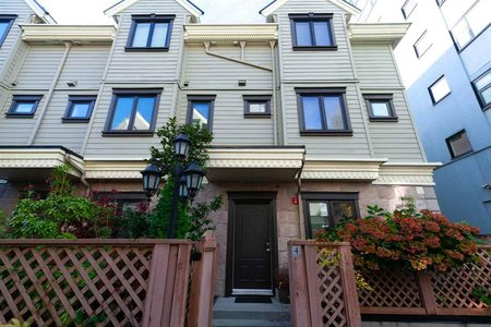 R2337413 - 4 1135 BARCLAY STREET, West End VW, Vancouver, BC - Townhouse