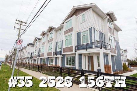 R2338521 - 35 2528 156 STREET, King George Corridor, Surrey, BC - Townhouse
