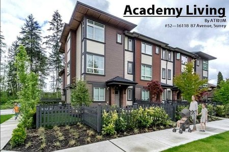 R2351598 - 52 16118 87 AVENUE, Fleetwood Tynehead, Surrey, BC - Townhouse