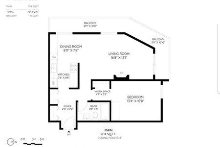 R2387279 - 303 2935 SPRUCE STREET, Fairview VW, Vancouver, BC - Apartment Unit