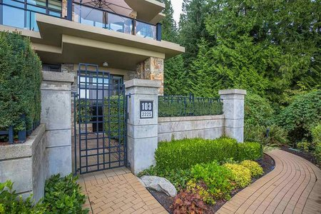R2406505 - 103 2225 TWIN CREEK PLACE, Whitby Estates, West Vancouver, BC - Townhouse