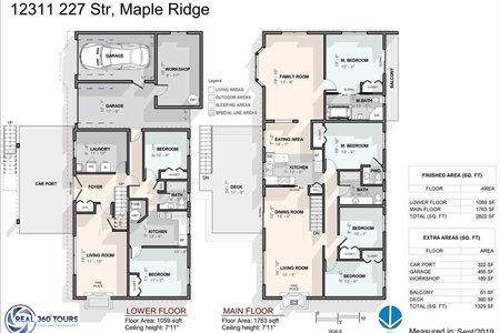 R2407623 - 12311 227 STREET, East Central, Maple Ridge, BC - House/Single Family