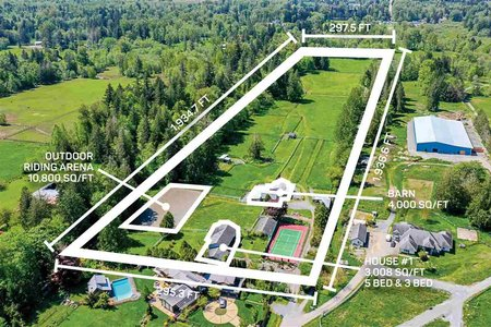 R2446201 - 22290 4 AVENUE, Campbell Valley, Langley, BC - House with Acreage