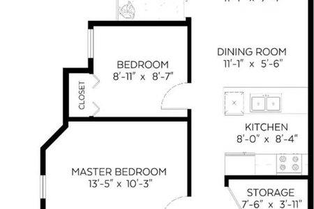 R2456479 - 203 1099 W 71ST AVENUE, Marpole, Vancouver, BC - Apartment Unit