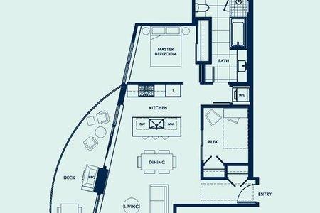 R2529394 - 1206 1501 FOSTER STREET, White Rock, White Rock, BC - Apartment Unit