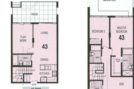 R2570559 - 43 8628 HAZELBRIDGE WAY, West Cambie, Richmond, BC - Townhouse