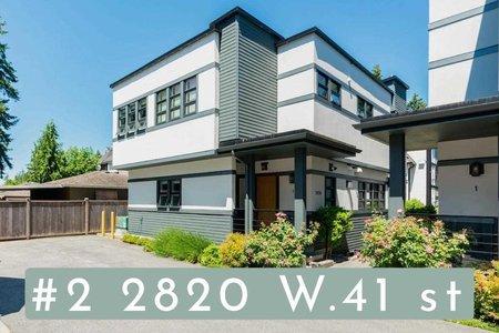 R2590543 - 2 2820 W 41ST AVENUE, Kerrisdale, Vancouver, BC - Townhouse