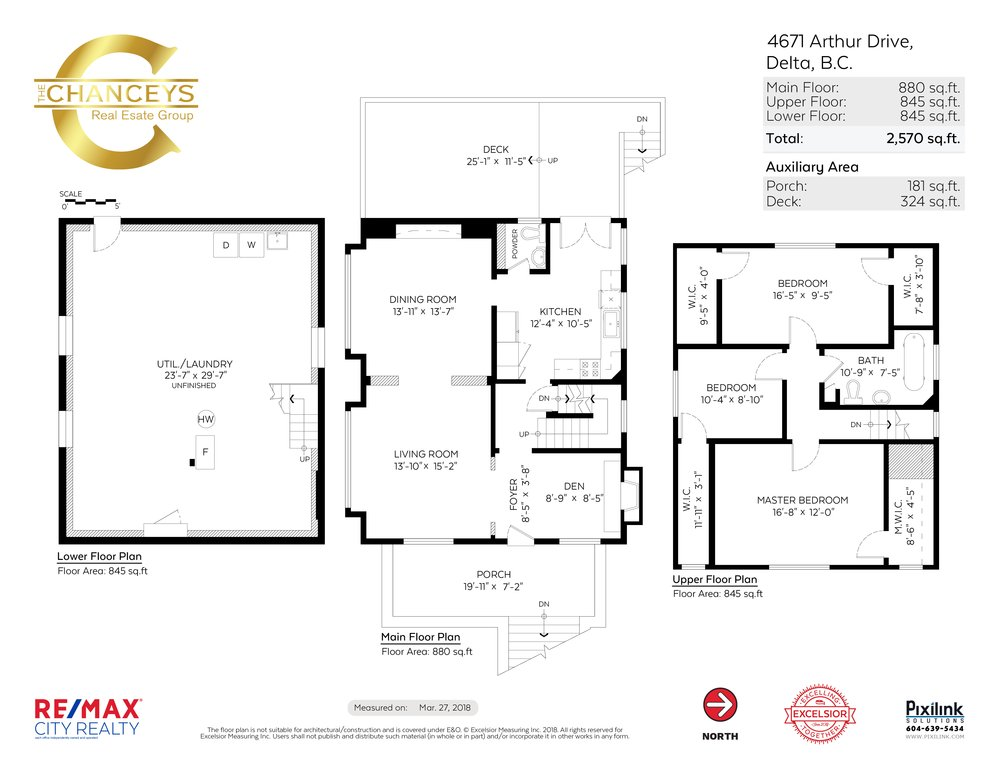 Floor Plan for a 3 Bedroom House in