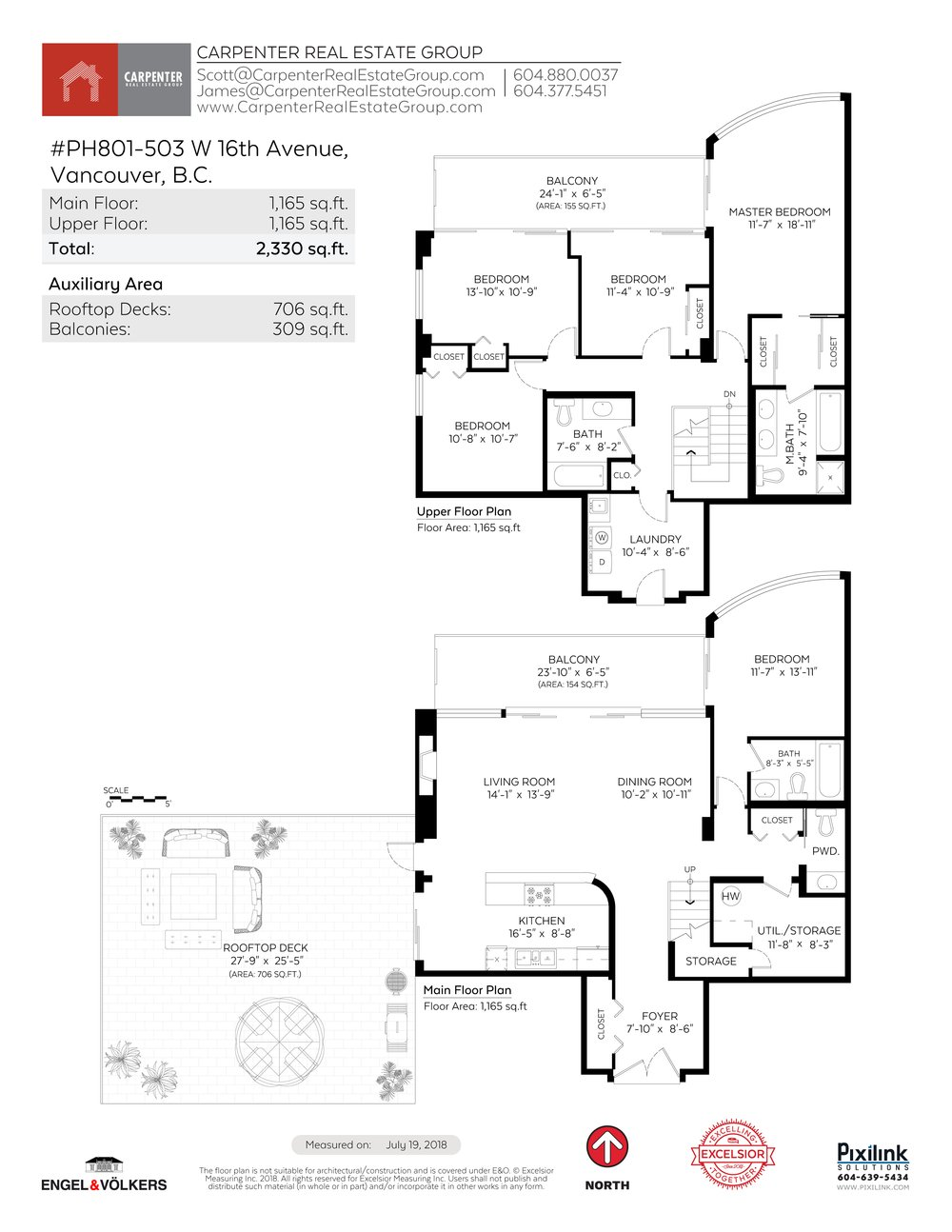 Floor Plan for a 5 Bedroom Apartment in Vancouver