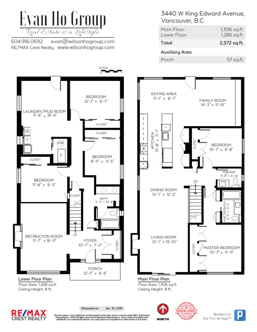 Floor Plan for a 5 Bedroom House in Vancouver