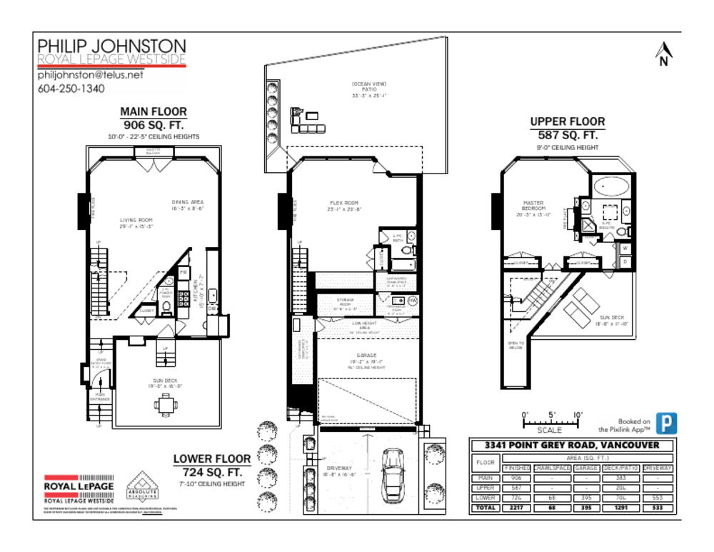 Floor Plan for a 1 Bedroom House in Vancouver