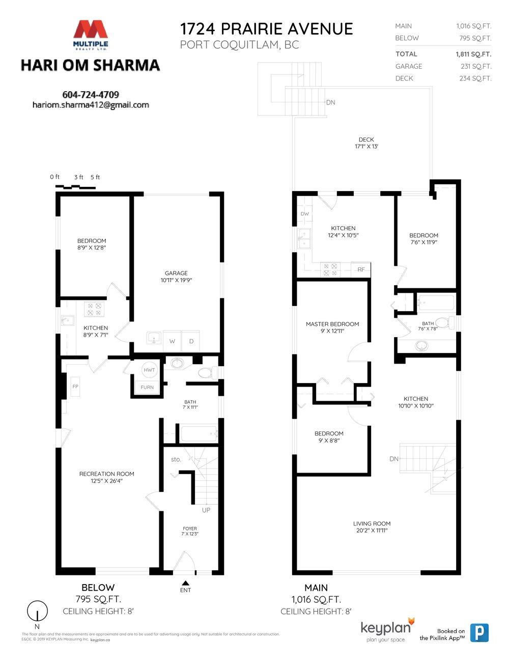 Floor Plan for a 4 Bedroom House in