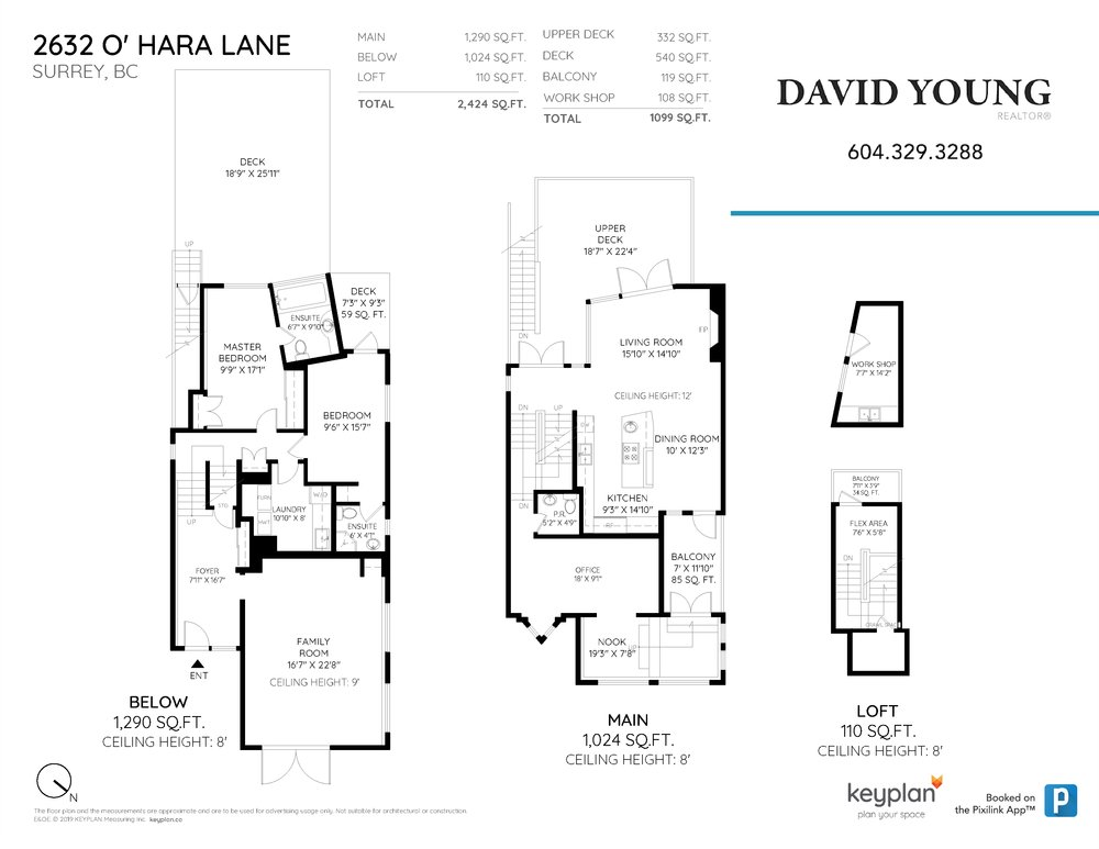 Floor Plan for a 2 Bedroom House in