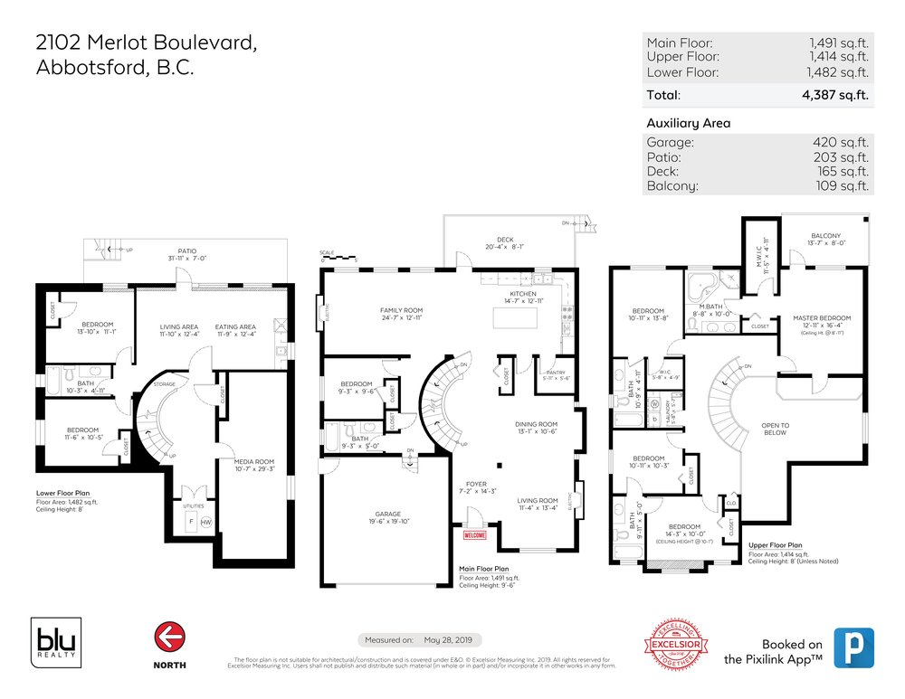 Floor Plan for a 7 Bedroom House in