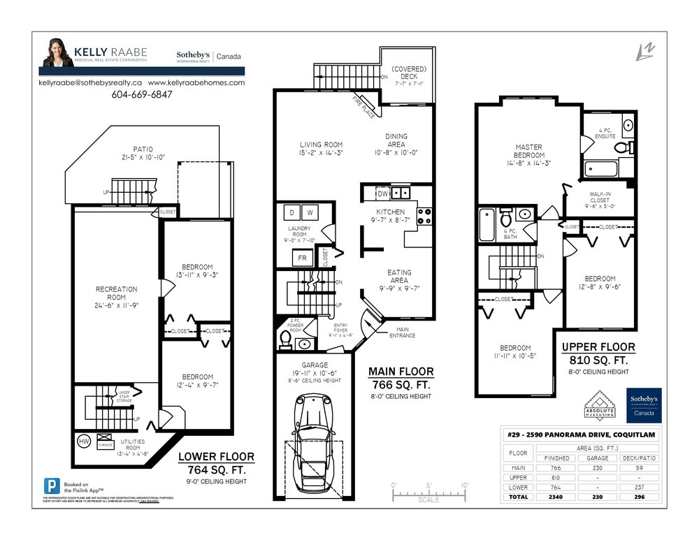 Floor Plan for a 5 Bedroom Townhouse in