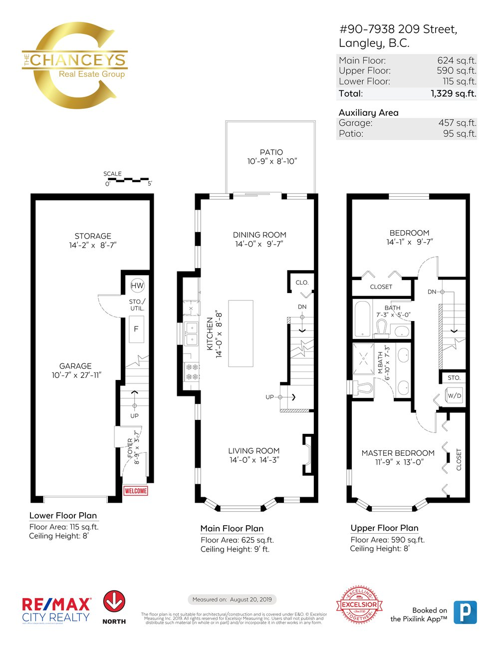 Floor Plan for a 2 Bedroom Townhouse in