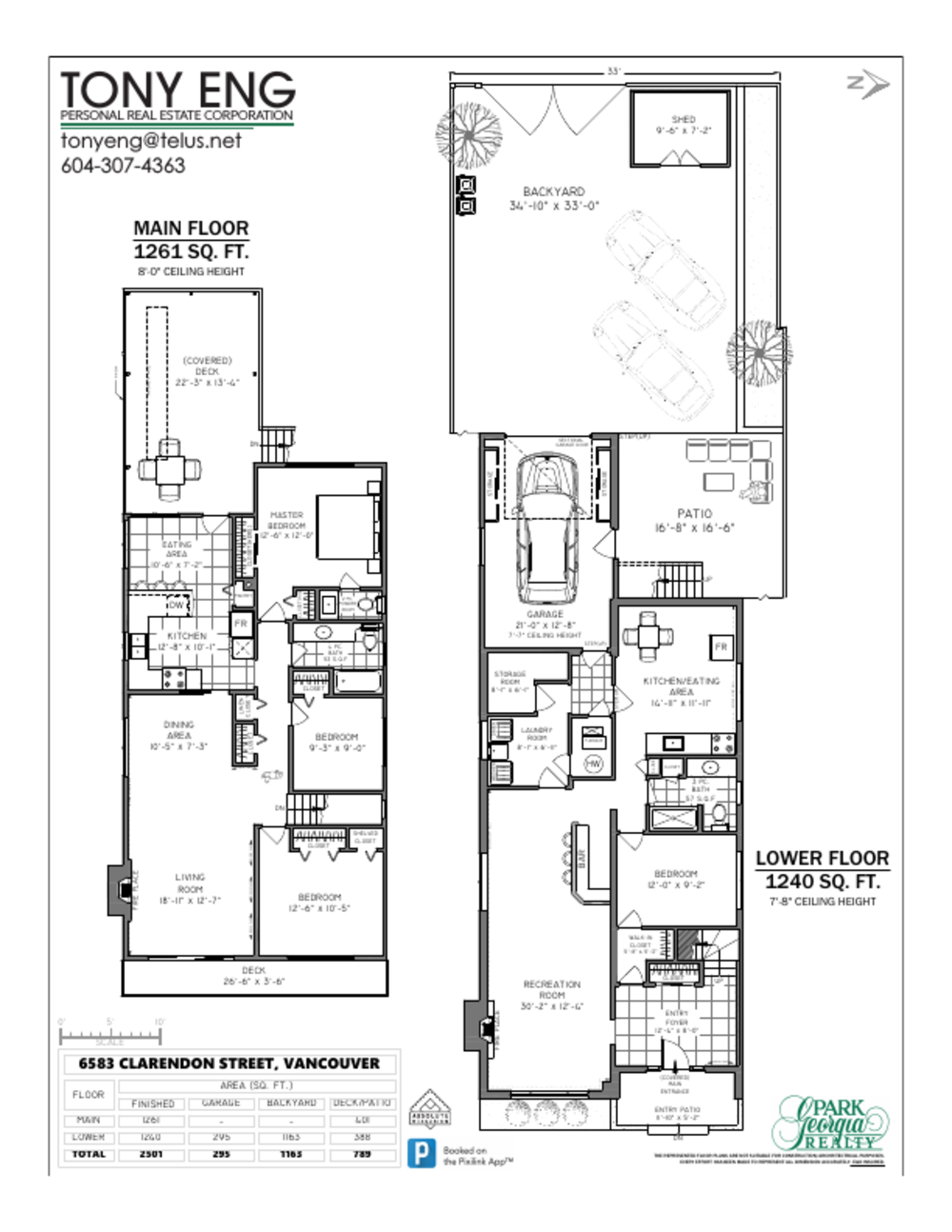 Floor Plan for a 4 Bedroom House in Vancouver