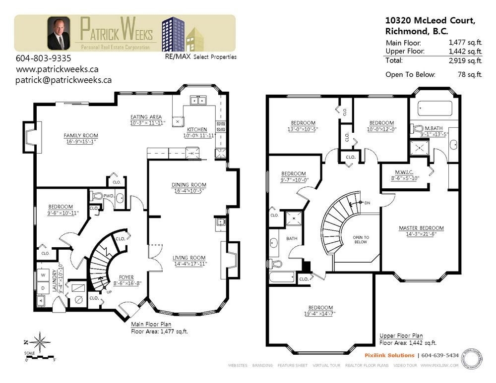 Floor Plan for a 6 Bedroom House in