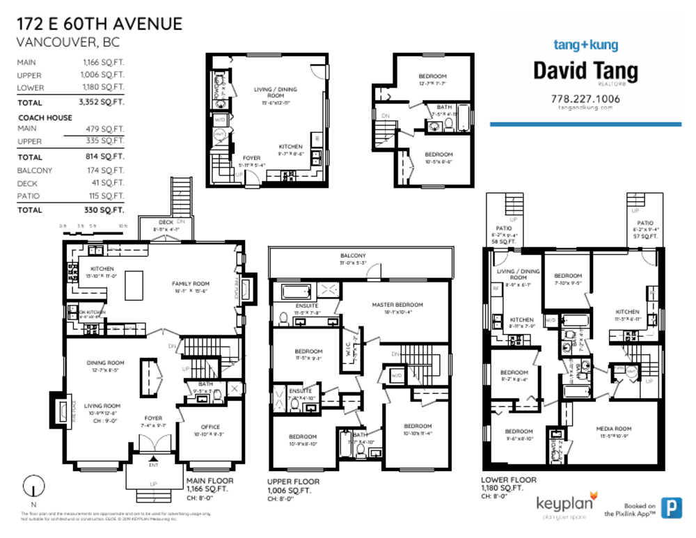 Floor Plan for a 10 Bedroom House in Vancouver