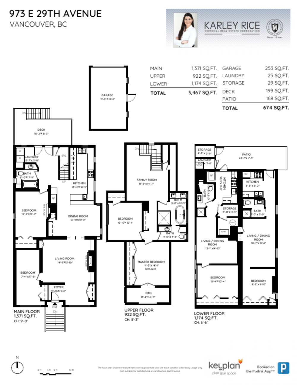 Floor Plan for a 6 Bedroom House in Vancouver