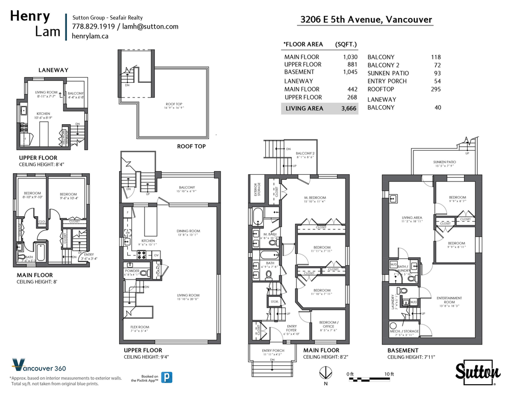 Floor Plan for a 7 Bedroom House in Vancouver