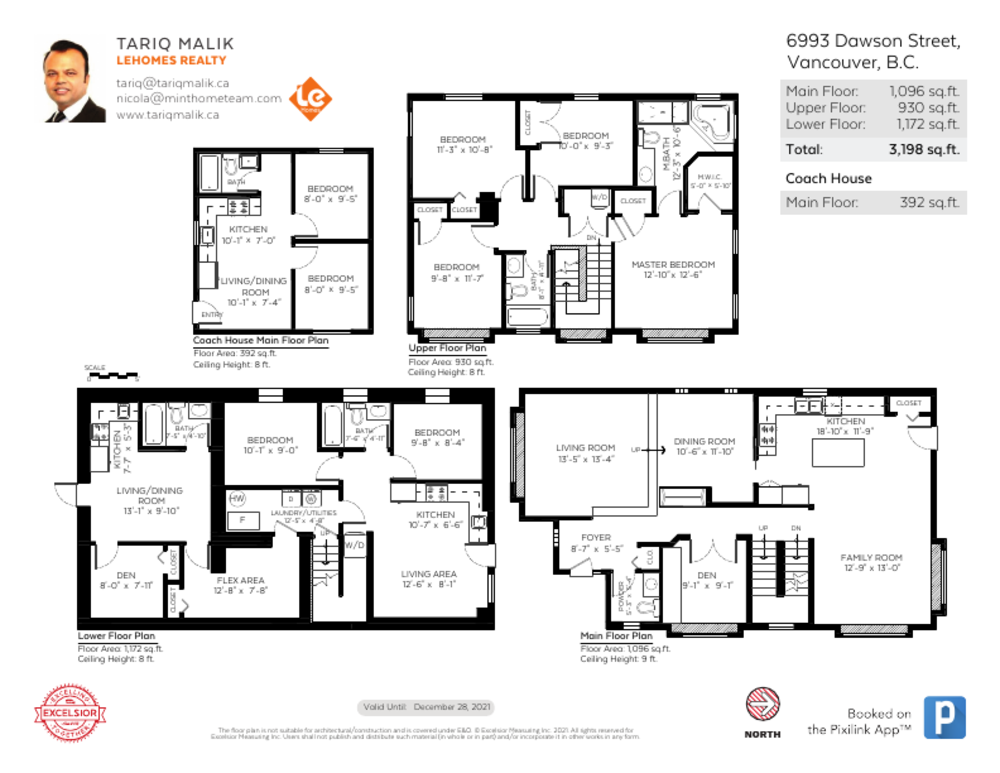 Floor Plan for a 9 Bedroom House in Vancouver