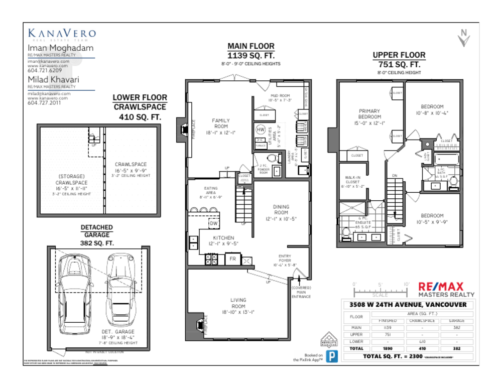 Floor Plan for a 3 Bedroom House in Vancouver