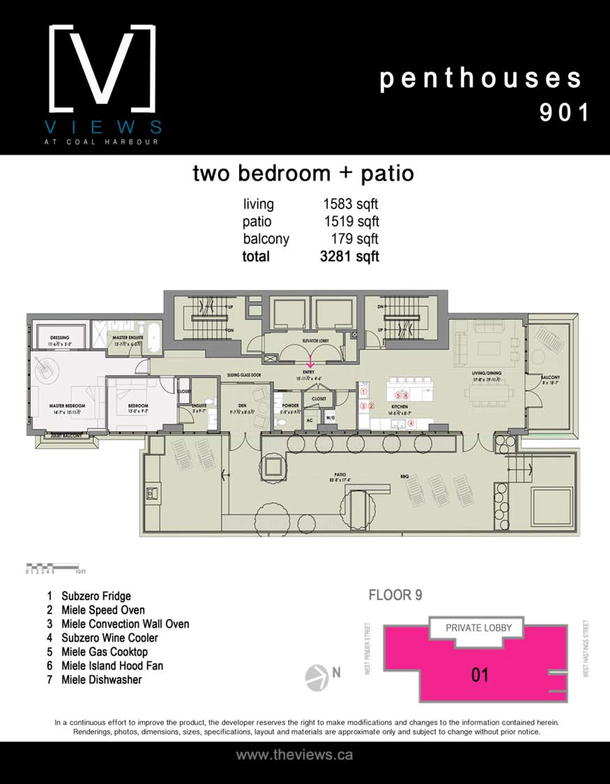 penthouses 901  2 bedroom plus terrace (PDF)