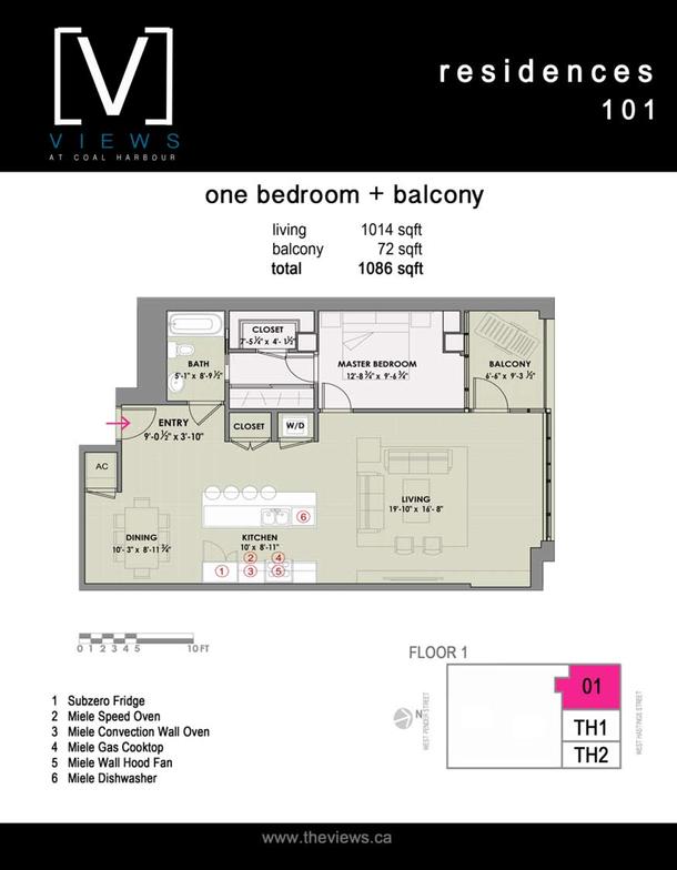 residences 101  1 bedroom plus balcony (PDF)