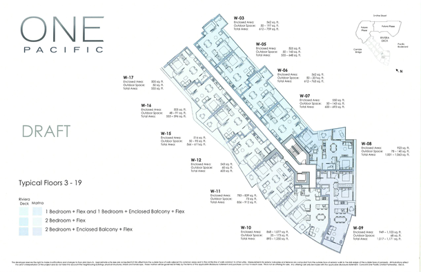 one pacific vancouver condos floor plans (PDF)