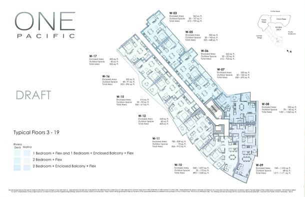 one pacific vancouver condos floor plans (PDF)