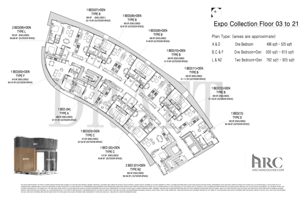 arc floor plan expo collection floors 3 21 (PDF)