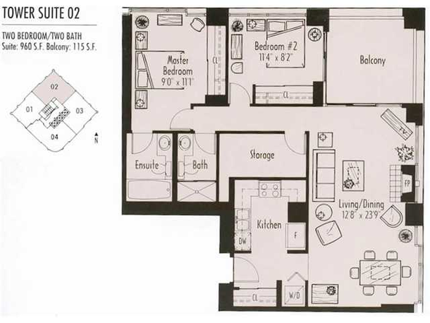 paris place 02 plan 2 bedrooms 960 sqft (JPG)
