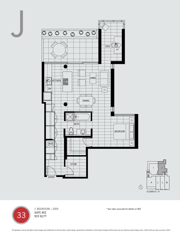 one bedroom and den plan j (PDF)
